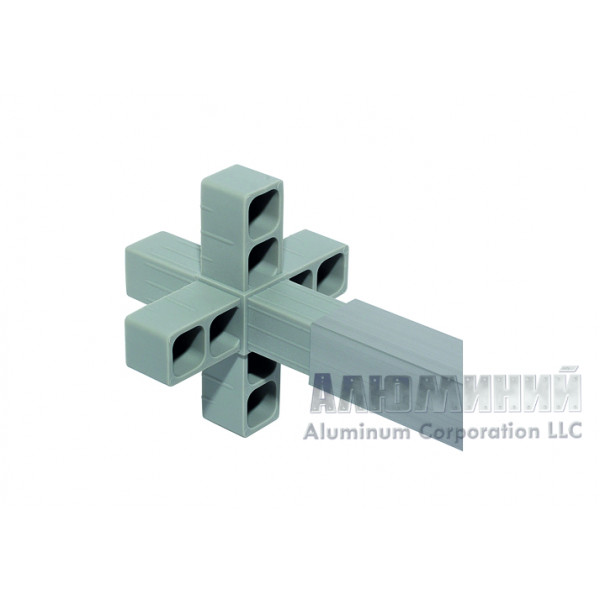 Соединитель 6-сторонний для алюминиевого профиля 25 х 25 х 2мм 66666