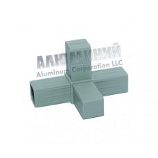 Соединитель «двойная розетка» для алюминиевого профиля 20 х 20 х 1,5мм 33333 1