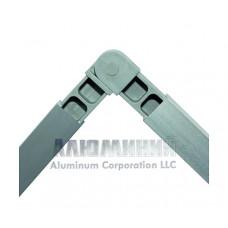 Соединитель шарнирный 90-180 градусов для квадратной трубы 30 х 30 х 2мм 99999 1