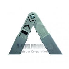 Шарнирный соединитель 40-270 градусов с винтом для квадратной трубы 20х20х1,5мм 00000 1