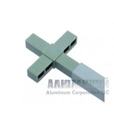 Соединитель «крест»для квадратной трубы 20х20х1,5мм 44444 1