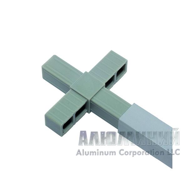 Соединитель «крест»для квадратной трубы 20х20х1,5мм 44444