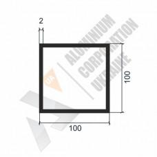 Алюминиевая труба квадратная 100х100х2 - АН 000328 1