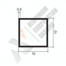 Алюминиевая труба квадратная 10х10х0,9 - АН 00352 1