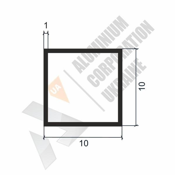 Алюминиевая труба квадратная | 10х10х1 - БП 03-0003