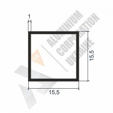 Алюминиевая труба квадратная 15,5х15,5х1 - АН 00203 1