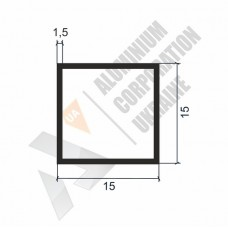 Алюминиевая труба квадратная 15х15х1,5 - АН 00137 1
