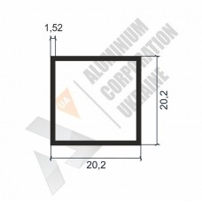 Алюминиевая труба квадратная 20,2х20,2х1,52 - БП 00115 1