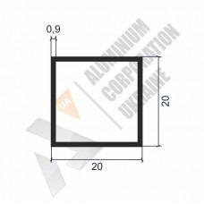 Алюминиевая труба квадратная 20х20х0,9 - АН 00204 1