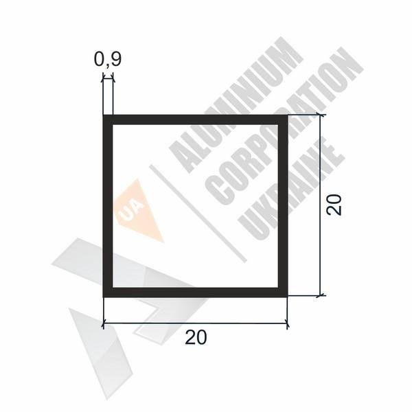 Алюминиевая труба квадратная | 20х20х0,9 - АН 00204