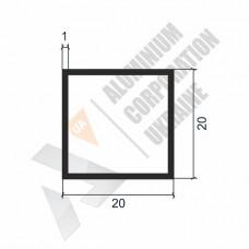 Алюминиевая труба квадратная 20х20х1 - АН 00062 1