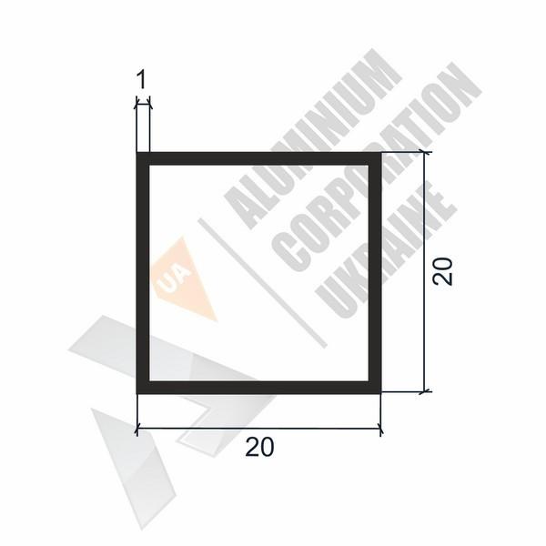 Алюминиевая труба квадратная | 20х20х1 - БП 00162