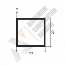 Алюминиевая труба квадратная 20х20х2 - АН 0062 1