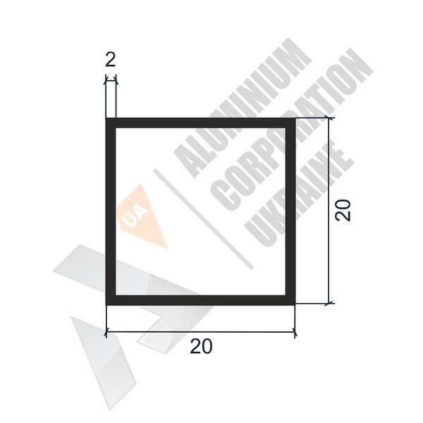 Алюминиевая труба квадратнаям | 20х20х2 - БП 00220