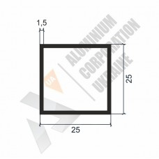 Алюминиевая труба квадратная 25х25х1,5 - АН 00063 1
