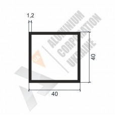Алюминиевая труба квадратная 40х40х1.2 - АН 00300 1