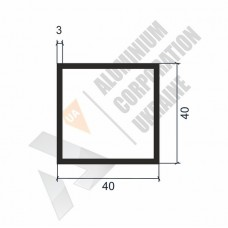Алюминиевая труба квадратная 40х40х3 - АН 00327 1