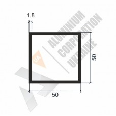 Алюминиевая труба квадратная 50х50х1,8 - АН 00134 1