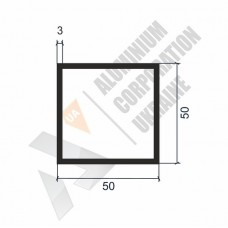 Алюминиевая труба квадратная 50х50х3 - АН 00015 1
