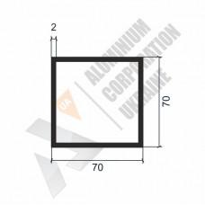 Алюминиевая труба квадратная 70х70х2 - БП 00256 1