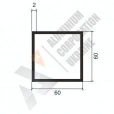 Алюминиевая труба квадратная 60х60х2 - БП 0300 1