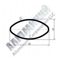 Алюминиевая труба овальная 42х22х1,2