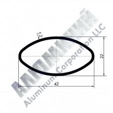 Алюминиевая труба овальная 42х22х1,2 - АН 00232 1