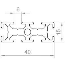 Т трек алюминиевый станочный профиль t track <br> 40х15 - БП 56874 1